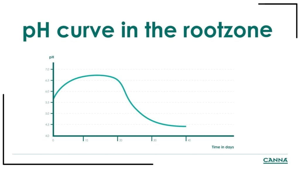 CANNA pH Curve in the Rootzone