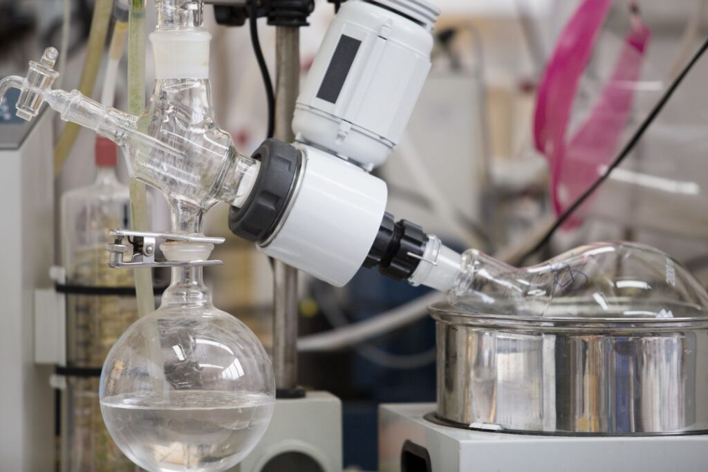 """A Rotary Evaporator (also called as """"rotavap"""" or """"rotovap"""") is a device used in labs for the efficient and gentle removal of solvents from samples by evaporation."""
